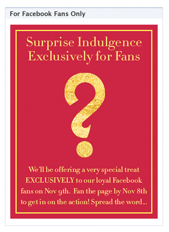 Clarins Surprise Indulgence for Facebook Fans
