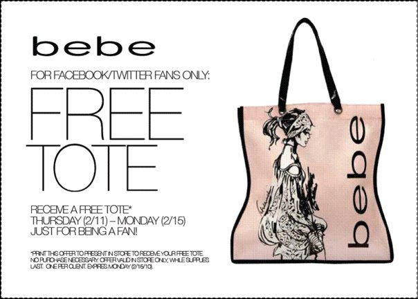Free Designer Tote Bag At Bebe