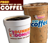 Free Coffee 1 w200 h200 FREE Hot or Iced Dunkin Donuts Coffee   Mondays in March