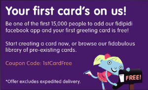 Free Card w300 h200 FREE Fidipidi Mailed Greeting Card