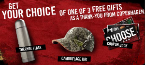 image about Copenhagen Coupons Printable called Cost-free Hat and Flask In opposition to Copenhagen - Hunt4Freebies