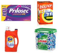 P and G Samples FREE Pantene, Tide, Cascade, Bounce, and Prilosec Samples