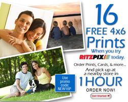 RitzPix FREE 16 4X6 Prints at Ritzpix