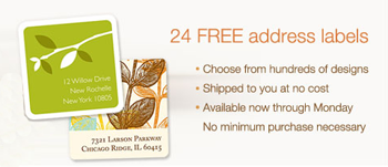 Address Labels FREE 24   48 Personalized Address Labels From Pear Tree