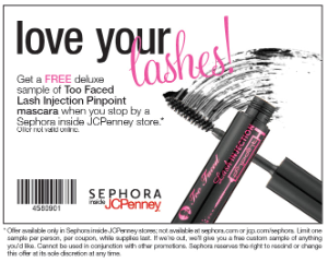 FREE Mascara w300 h300 FREE Too Faced Lash Injection Pinpoint Mascara at Sephora in JCPenney