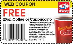 couponCoffee w250 h200 Holiday Station: FREE Coffee or Cappuccino