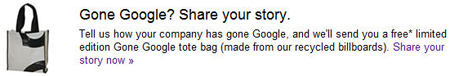 Gone Google FREE Gone Google Tote Bag