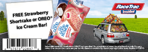 Racetrak w300 h300 FREE Oreo Ice Cream or Strawberry Shortcake Bar at RaceTrac