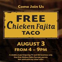 Taco Cabana FREE Chicken Fajita Taco at Taco Cabana (Select Locations) 8/3