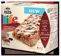 Life FREE Life Cereal Banana Walnut Bread or Cinnamon Pecan Roll Pecan Bars Sample