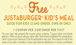 photo relating to Whataburger Printable Coupons referred to as Free of charge Justaburger Young children Evening meal at Whataburger upon 12/13