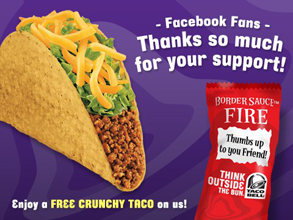 graphic regarding Taco Bell Printable Coupons referred to as No cost Crunchy Experienced Beef Taco at Taco Bell - Hunt4Freebies