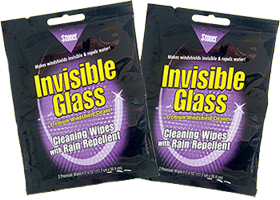 Invisible Glass 2 FREE Invisible Glass Cleaner and Repellent Wipes Sample Packs