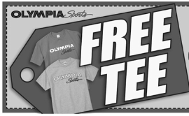 FREE T-Shirt at Olympia Sports Stores - Hunt4Freebies