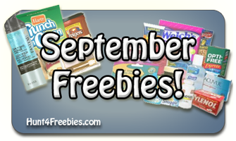 September Freebies FREE Stuff In September, 2011