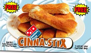 free cinna stix coupon code dominos
