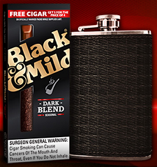 Flask From Black And Mild FREE Flask From Black And Mild (Call In)