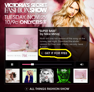 FREE MP3 Song Downloads From Victoria's Secret - Hunt4Freebies