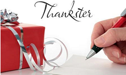 Thankster FREE Thankster Personalized Card Sample
