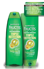 Garnier Fructis Triple Nutrition Shampoo and Conditioner FREE Garnier Fructis Triple Nutrition Shampoo & Conditioner Sample