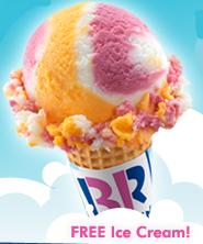 Birthday at Baskin Robbins FREE Ice Cream Scoop For Your Birthday at Baskin Robbins
