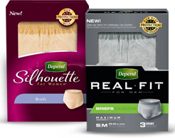 Depend briefs FREE Depend Product Sample Pack