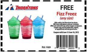 FREE Fizz Freez drink at Thorn...
