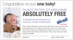 Baby Portrait Package at Olan Mills FREE Baby Portrait Package at Olan Mills