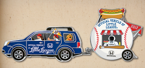 Honda Little League Baseball Collector Pin FREE Honda Little League Baseball Collector Pin