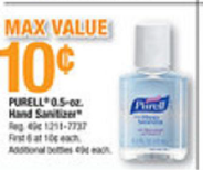 Office Max 3 FREE Purell Hand Sanitizers at Office Max