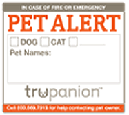 Get a FREE Pet Safety Stickers ...