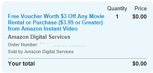 Amazon Local Deal FREE $3 Voucher For Amazon Instant Video