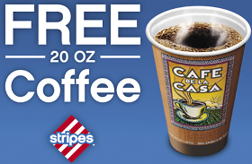FREE Coffee at Stripes Stores FREE Coffee at Stripes Stores