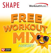5 FREE SHAPE August Workout Music Mix Downloads - Hunt4Freebies