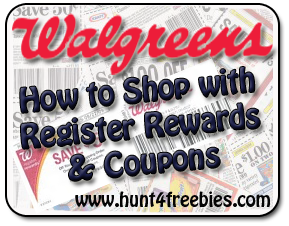 Walgreens Shopping How To Use Register Rewards and Coupons at Walgreens