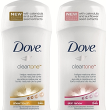 Dove Clear Tone Deodorant FREE Dove Clear Tone Deodorant Sample