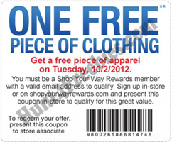 Sears Outlet piece of apparel FREE Piece Of Apparel at Sears Outlet Stores  Today Only (10/2)