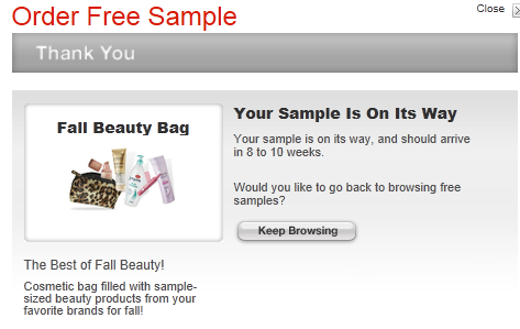 Target Beauty Bag FREE Target Fall Beauty Bag   NEW OFFER
