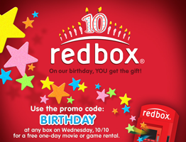 redbox birthday FREE One Night Redbox Movie OR Video Game Rental (Update)