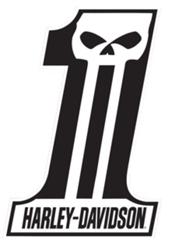 Black and White Dark Custom 1 FREE Dark Custom Harley Davidson Sticker