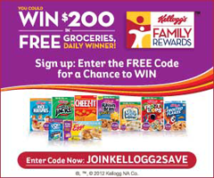 Kelloggs Family Rewards 1 FREE Kelloggs Family Rewards Point Codes (Updated)