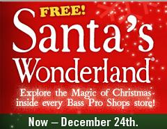 Santas Wonderland Event at Bass Pro Shops FREE Photo with Santa and Wonderland Events at Bass Pro Shops