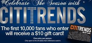 CitiTrends Gift Card FREE $10 CitiTrends Gift Card