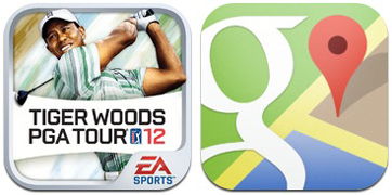 Tiger Woods and Google Maps  FREE Google Maps and Tiger Woods PGA TOUR 12 for iPhone & iPad