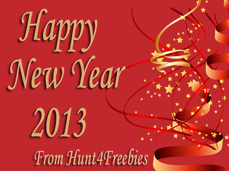 happy new year 2013 Happy New Year From Hunt4Freebies!