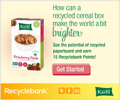 Kashi Recycle 30 FREE RecycleBank Points From Kashi