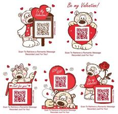 Qramel Valentine Stickers