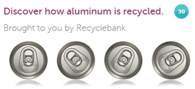 RB Recycling aluminum 30 FREE RecycleBank Points From Recycling Aluminum