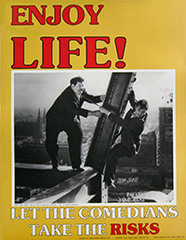 photograph relating to Free Printable Safety Posters named No cost Laurel and Hardy Stability Poster - Hunt4Freebies