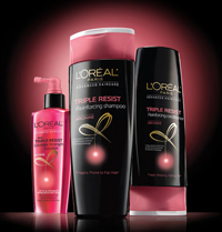 LOreal Paris Triple Resist FREE LOreal Paris Advanced Shampoo and Conditioner Samples